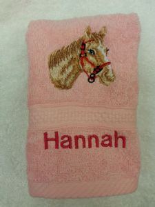 HORSES HEAD PERSONALISED FACE CLOTH